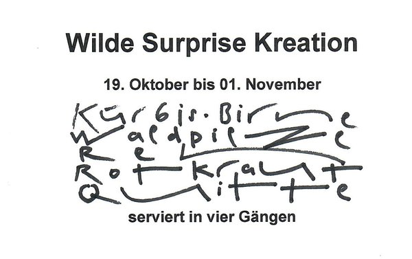 Wilde Surprise Kreation